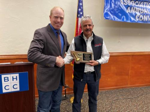 Kyle Shobe officially inducted Merton Musser into the Montana Auctioneer Association Hall of Fame on January 25, 2020 in Billings, MT.